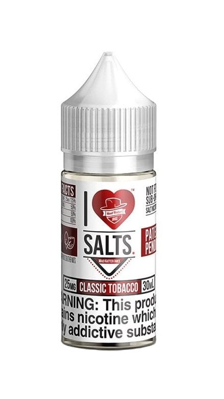 Mad Hatter I Love Salts Classic Tobacco
