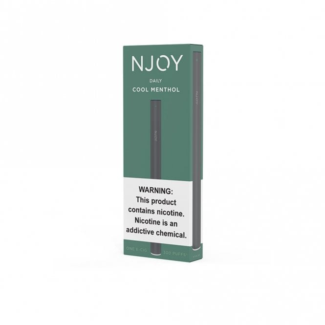 NJOY Daily Disposable E-Cig - Cool Menthol Flavor