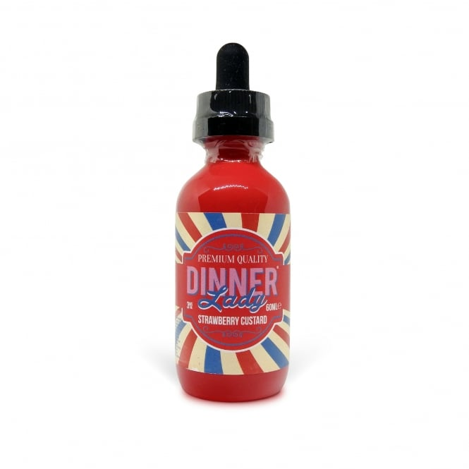 Dinner Lady Strawberry Custard 60ml Vape Juice
