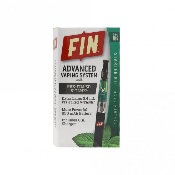 FIN E Cig Advanced Vaping System Kit - Bold Menthol