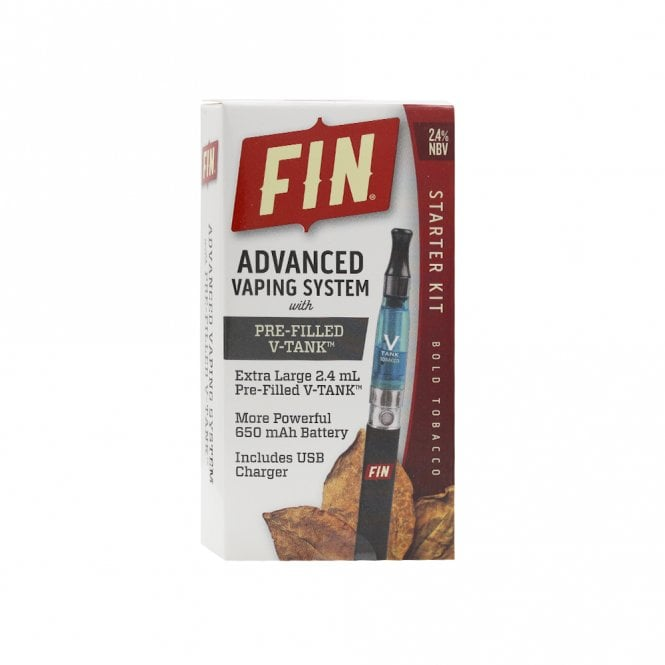 FIN E Cig Advanced Vaping System Kit - Bold Tobacco Flavor