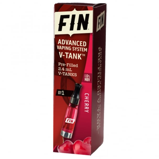 FIN E Cig Advanced Vaping V-TANK Cherry