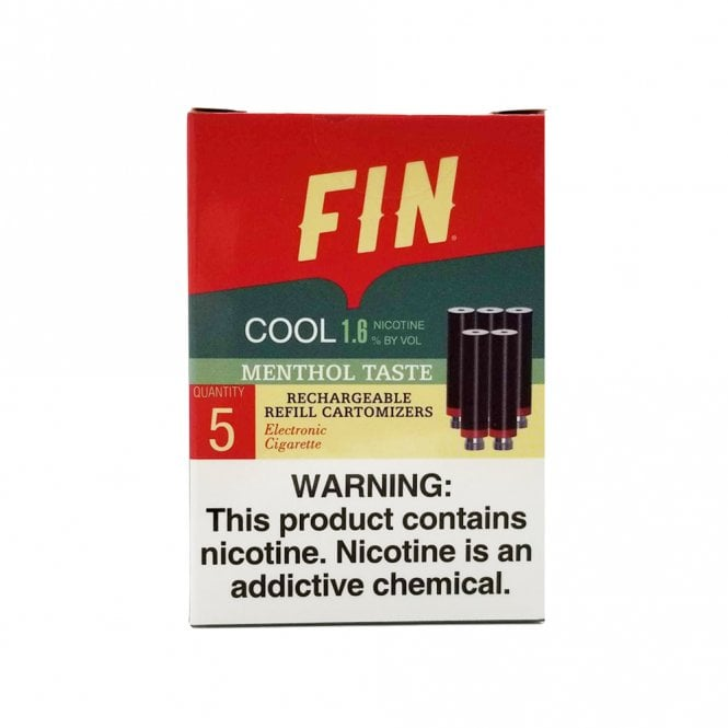 FIN E Cig Cool Menthol Cartomizer 5-Pack | 16mg