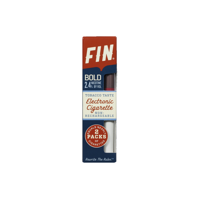 FIN E Cig Disposable E-Cigarette '40' Tobacco Bold