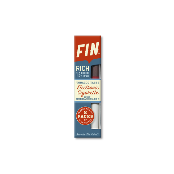 FIN E Cig Disposable E-Cigarette '40' Tobacco Rich