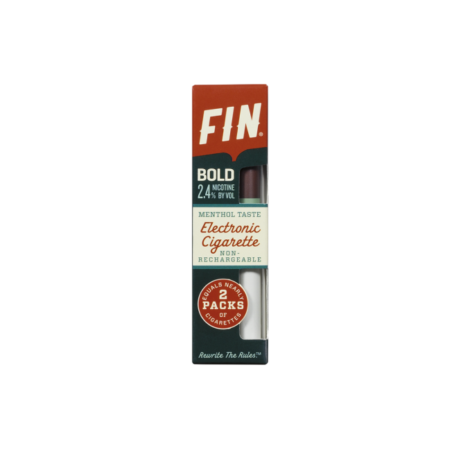 FIN E Cig Disposable E-Cigarette - Menthol Flavor '40' Bold