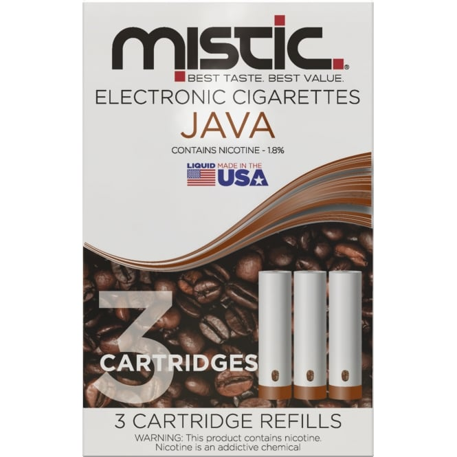 Mistic E Cig Java Flavor Cartridge Refill Pack (3-pack)