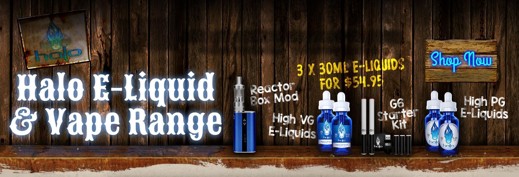 Halo E-Liquid & Vape Range