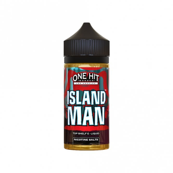 One Hit Wonder Island Man 100ml Salt Nic Juice Tropical fruit punch 80%VG