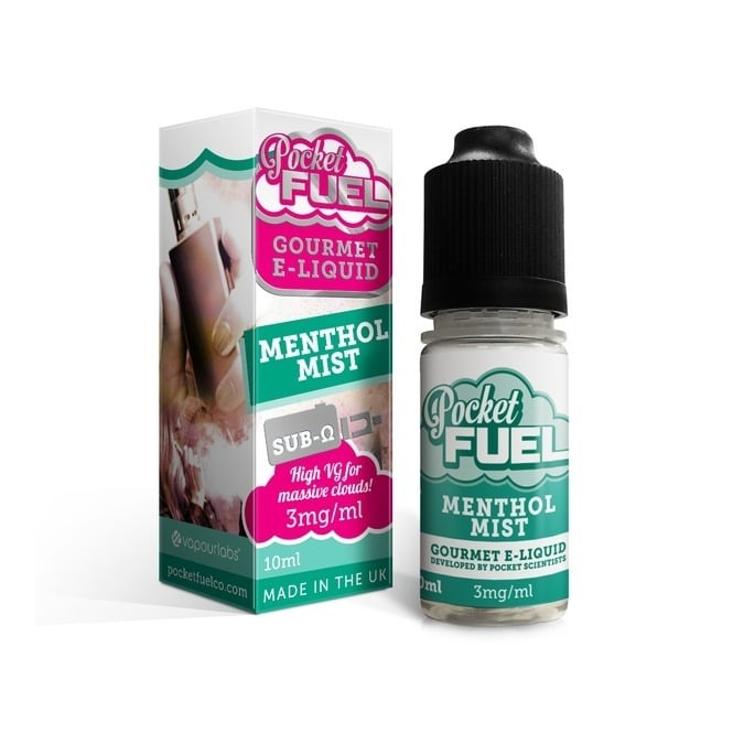 Pocket Fuel Menthol Mist 10ml Sub-Ohm Vape Juice