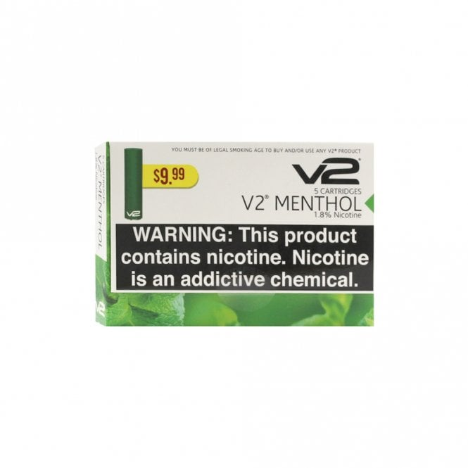 V2 Cigs Menthol Flavor Cartridge Pack (5)