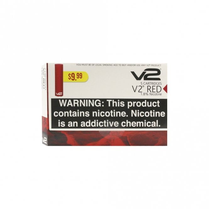 V2 Cigs Red Tobacco Flavor Cartridge Pack (5)