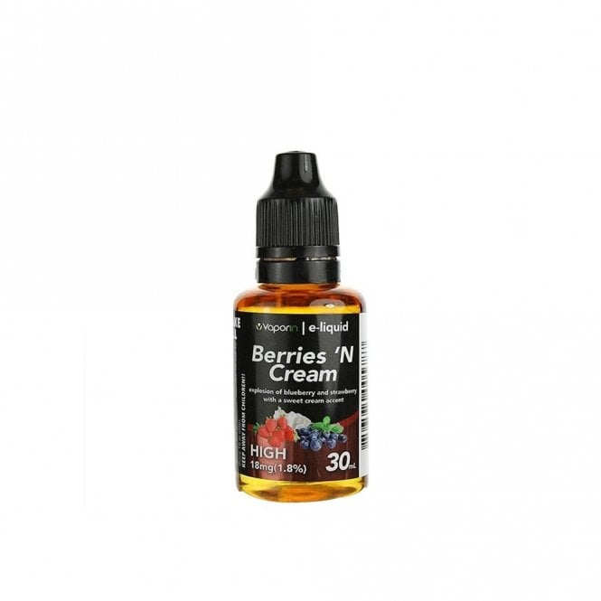 Vaporin Berries 'N Cream 30ml E-Liquid